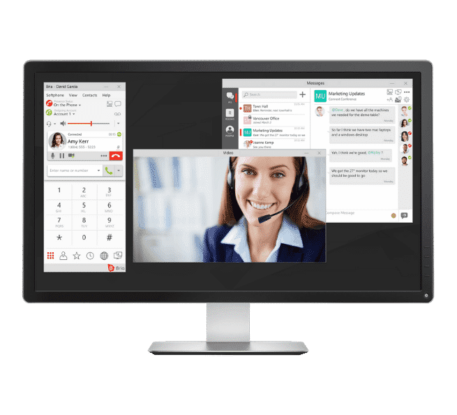 Softphone, Video Conferencing & Group Messaging on Desktop in Arbeit Connect