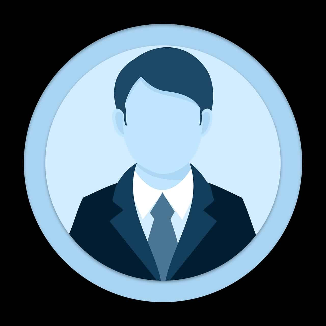 Icon of a Man Wearing a Suit