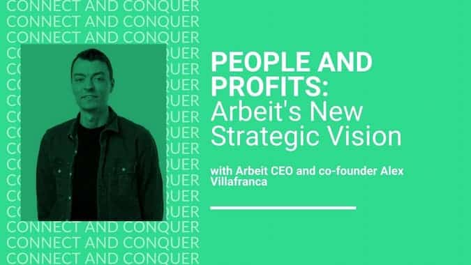 Webinar Cover for People and Profits With Arbeit's CEO and Co-Founder Alex Villafranca